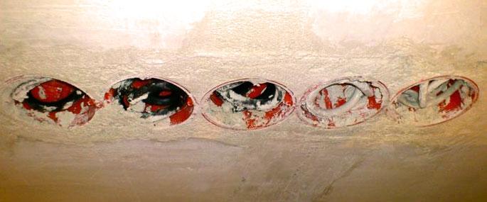 Подрозетники в стене