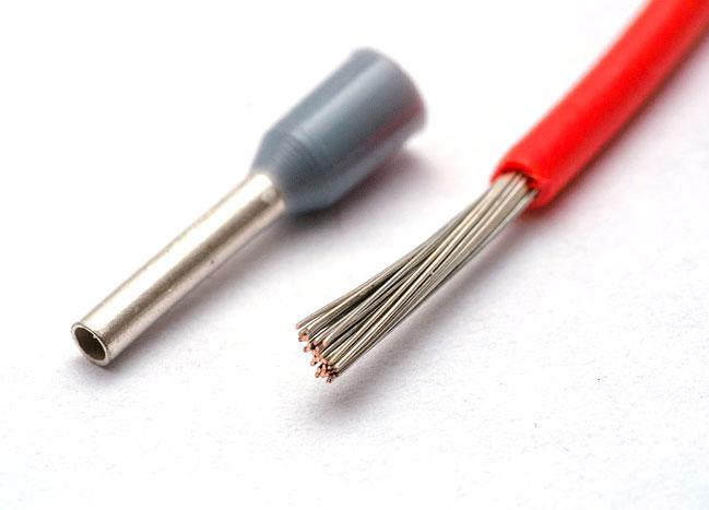 Обжим провода гильзой
