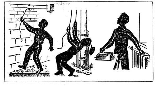 Как проходит ток через человека