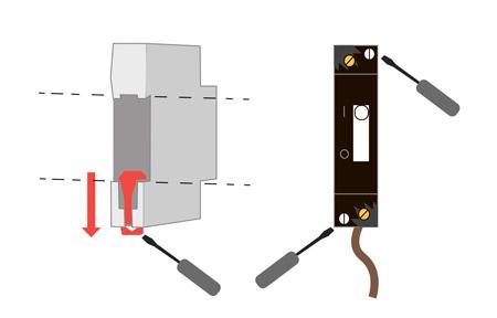 демонтаж автоматов в щитке